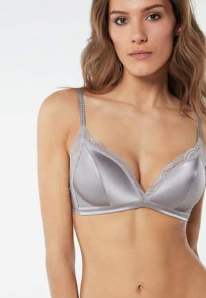 TIZIANA  - Triangle bra - blu st.bear/deep bordeaux