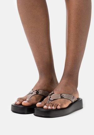 T-bar sandals - multicoloured