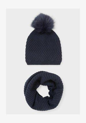 SET OF 2 - Beanie - dark blue