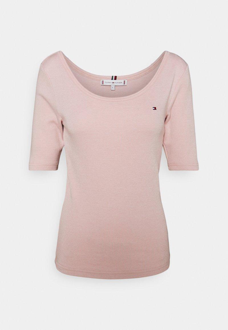 Tommy Hilfiger - SLIM VERTICAL OPEN - Basic T-shirt - pink