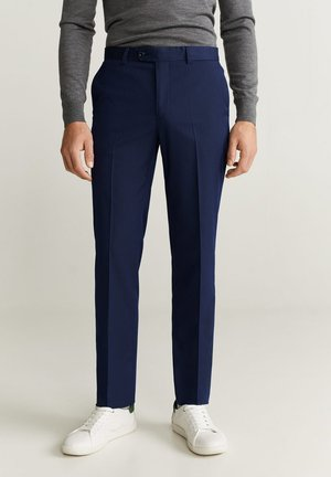 PAULO - Spodnie materiałowe - bleu foncé