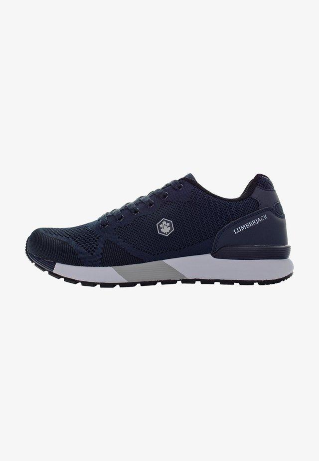 VENDOR - Matalavartiset tennarit - navy blue/grey