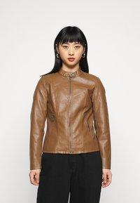 ONLY Petite - ONLMELISA JACKET - Faux leather jacket - cognac - 0