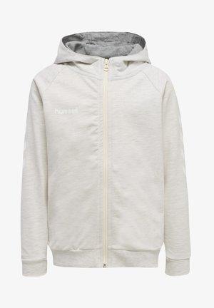 Zip-up sweatshirt - egret melange