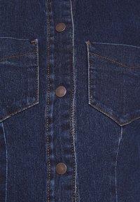 Vero Moda - VMGRACE SLIM BUTTON - Spijkerjurk - dark blue denim - 6