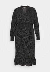 ONLY Carmakoma - CARLOLA CALF DRESS - Day dress - black/white - 4