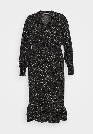 CARLOLA CALF DRESS - Denní šaty - black/white