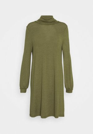 TURTLENECK DRESS - Neulemekko - new army green