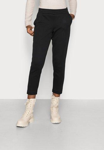 TRACK PANTS CROPPED - Pantaloni - black