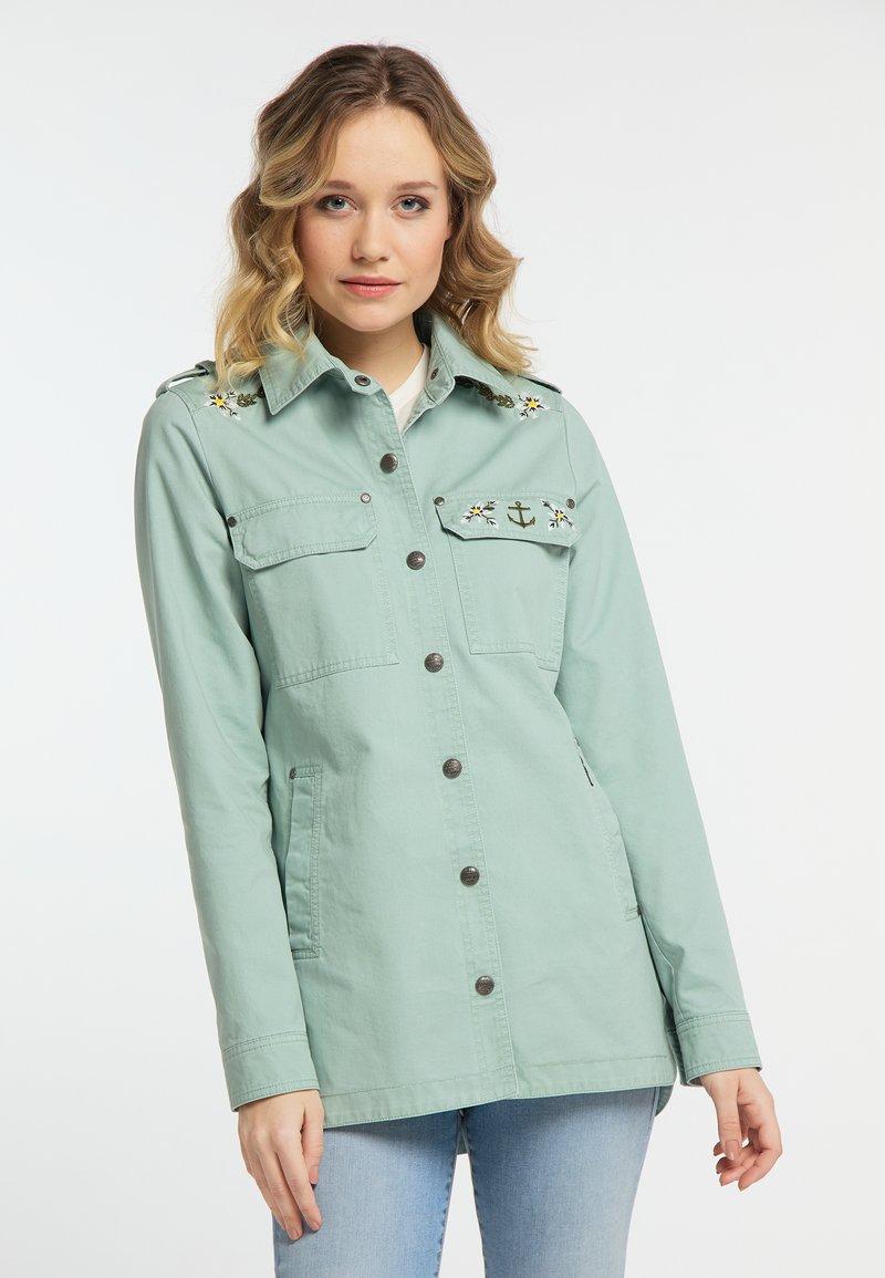 DreiMaster - Denim jacket - neo mint