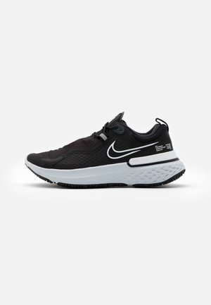 REACT MILER SHIELD - Neutral running shoes - black/white/pure platinum/dark smoke grey/reflect silver