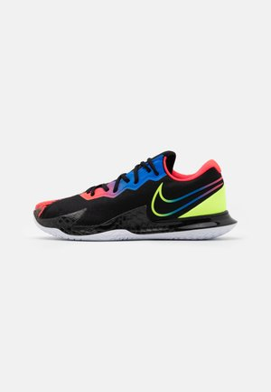 AIR ZOOM VAPOR CAGE 4 - Multicourt tennis shoes - black/volt/laser crimson/racer blue