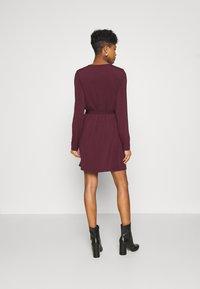 Vila - VIEBONI TIE DRESS - Jersey dress - winetasting - 2