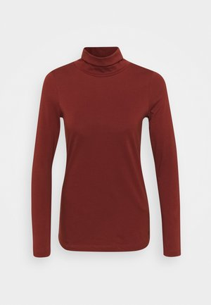Long sleeved top - burnt brick