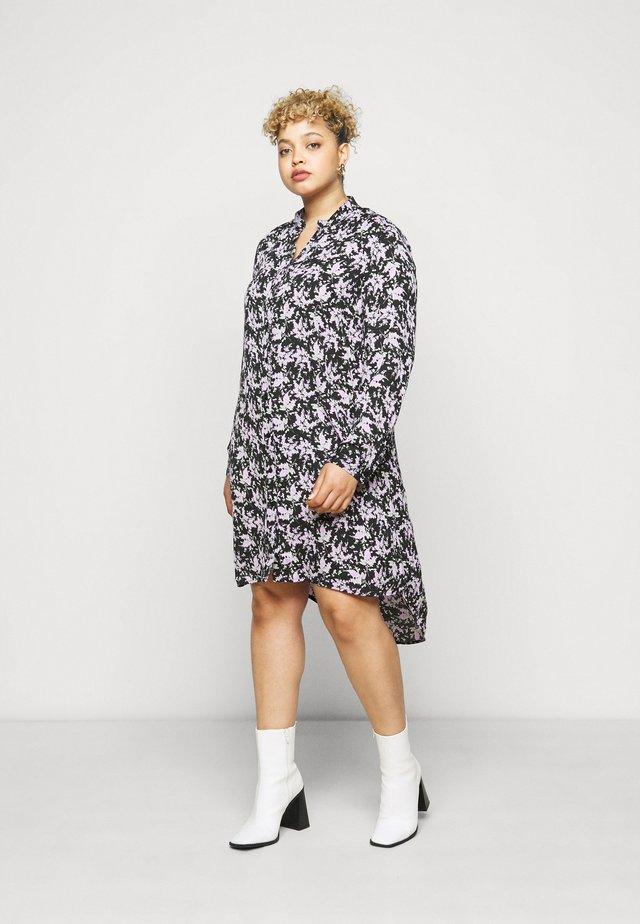 LONG SLEEVE DRESS - Robe d'été - black/lilac