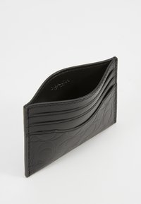 Coach - CARD CASE IN EMBOSSED SIGNATURE LEATHER - Wallet - black - 4