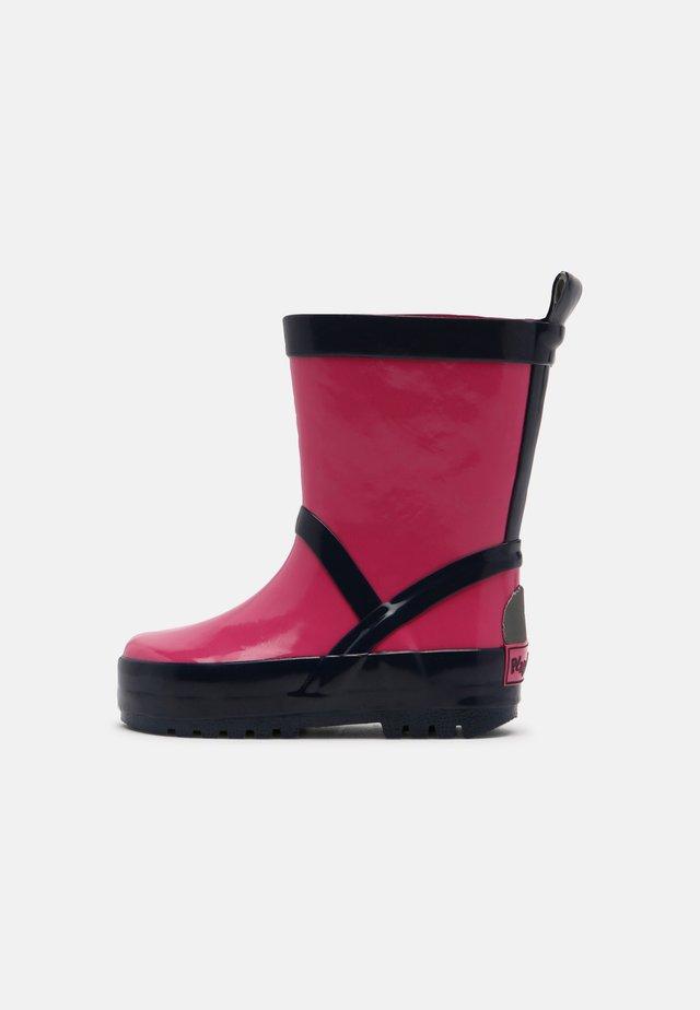 UNISEX - Bottes en caoutchouc - pink/marine