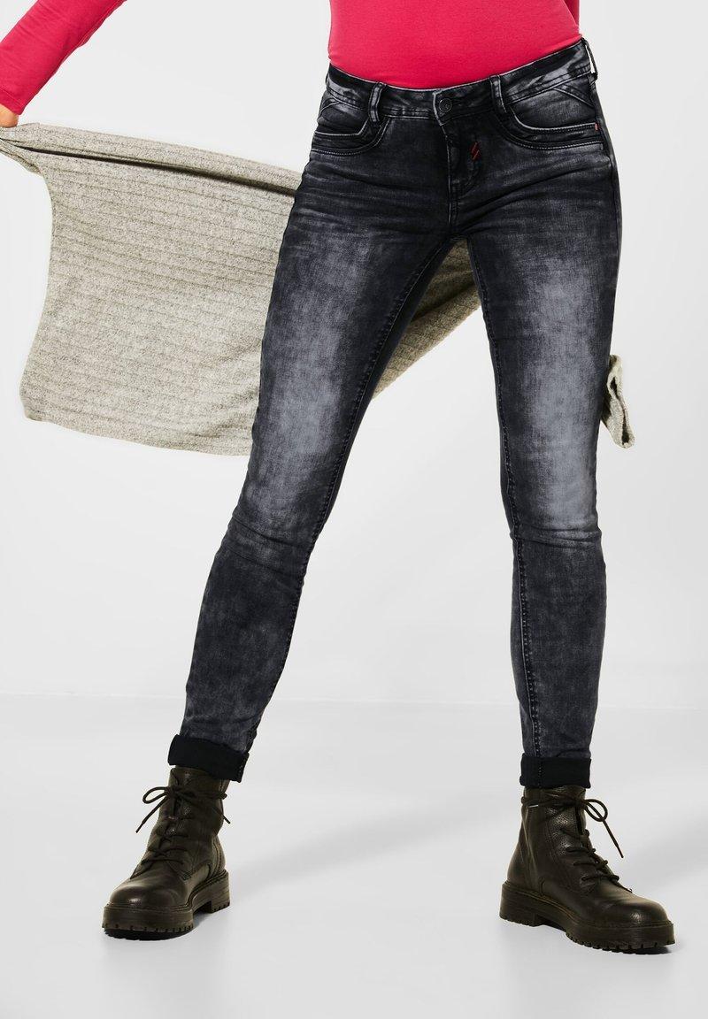Street One - Jeans Skinny Fit - schwarz
