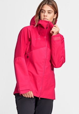 Hardshell jacket - dragon fruit-sundown