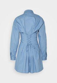 Missguided - CORSET WAIST BACK SHIRT DRESS POPLIN - Shirt dress - blue - 1