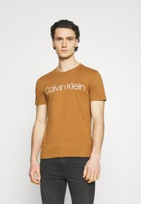 Calvin Klein - FRONT LOGO 2 PACK - Print T-shirt - black - 4