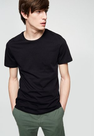 JAAMES - Basic T-shirt - black