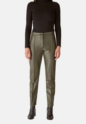 CIGARETTE - Leather trousers - verde