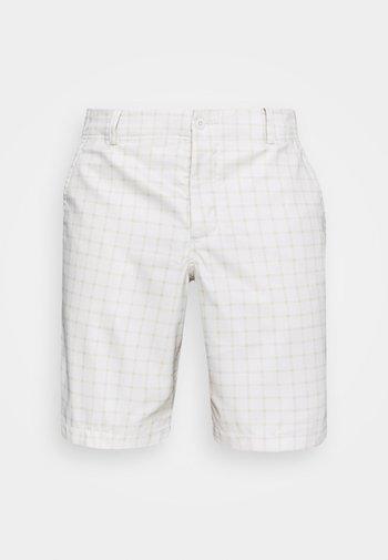 DRY FIT ESSENTIAL PLAID SHORT - Pantalón corto de deporte - light bone/parachute beige