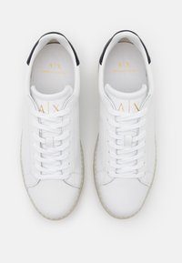 Armani Exchange - CLEAN CUPSOLE - Trainers - white - 3