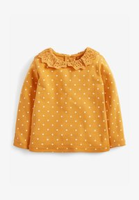 Next - BRUSHED BRODERIE COLLAR  - Long sleeved top - yellow - 0