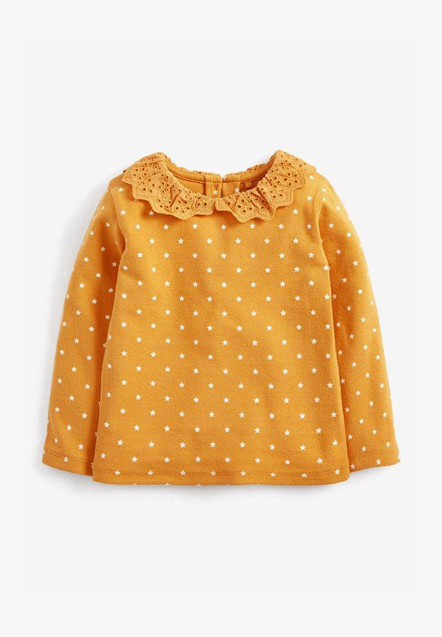 BRUSHED BRODERIE COLLAR  - Long sleeved top - yellow
