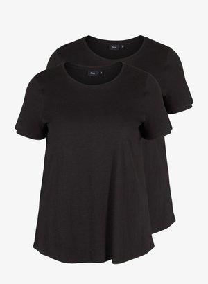 2-PACK SHORT-SLEEVED T-SHIRT IN COTTON - Basic T-shirt - black