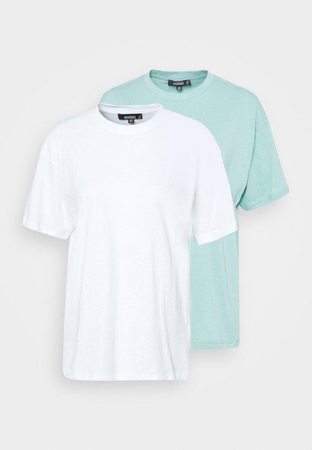 2 PACK - T-shirt basique - white/mint