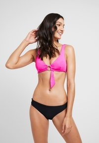 Seafolly - RING FRONT CROP - Bikini top - ultra pink - 1