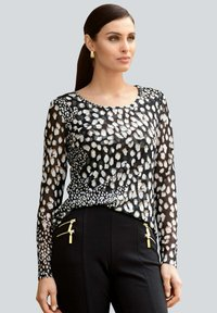 Alba Moda - Long sleeved top - schwarz,weiß,taupe - 0