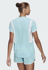 adidas Performance - STRIPES ITERATION T-SHIRT - T-shirts med print - blue - 2