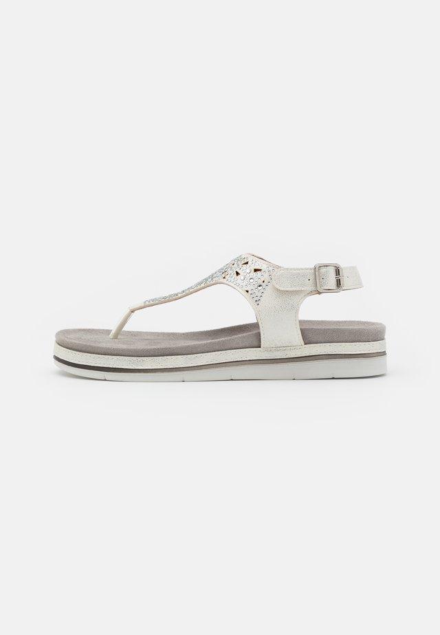 Sandály s odděleným palcem - white/silver