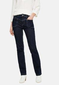 comma casual identity - Straight leg jeans - dark blue - 4