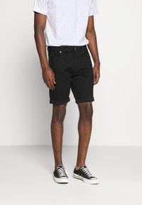 G-Star - 3301 SLIM SHORT - Denim shorts - elto nero black - 0