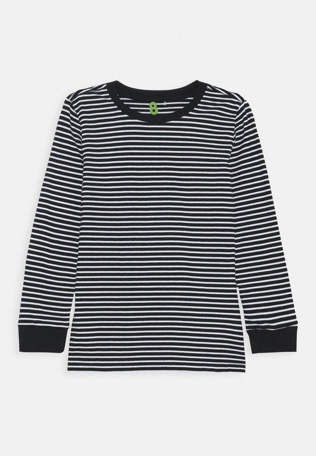 CORE LONG SLEEVE TEE - Langærmede T-shirts - black/white