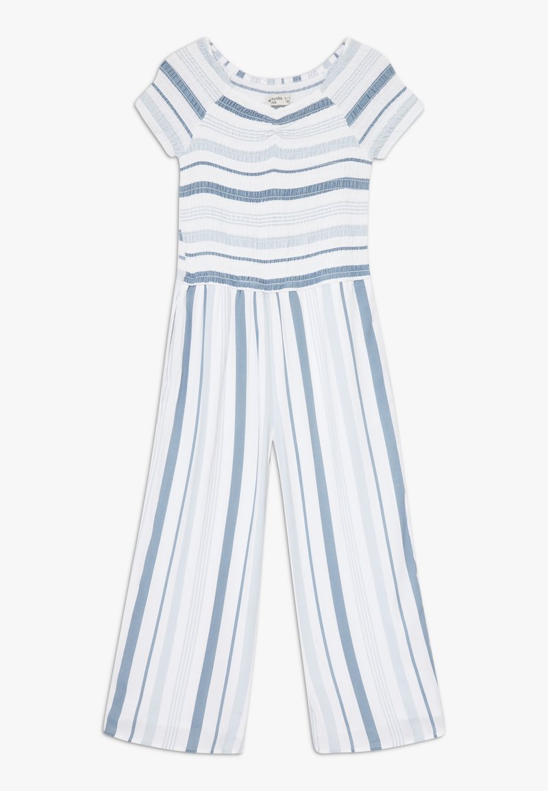 Abercrombie & Fitch - PREP SMOCKED  - Jumpsuit - blue