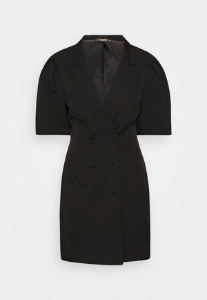 PUFF DRESS - Shirt dress - black