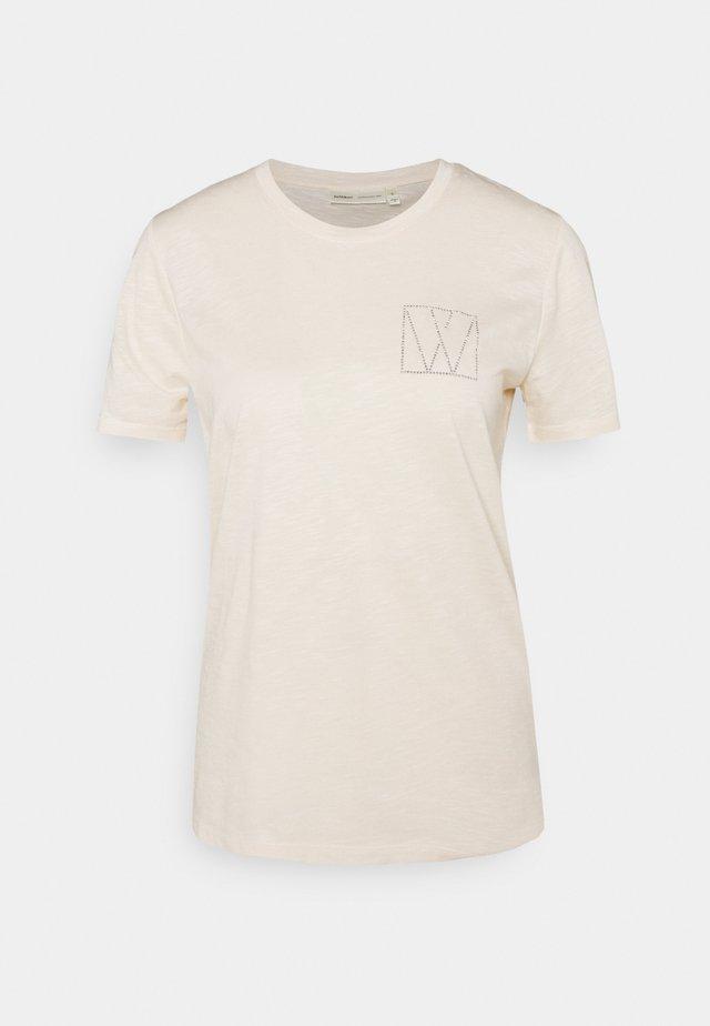 AIDEN - Print T-shirt - cream tan