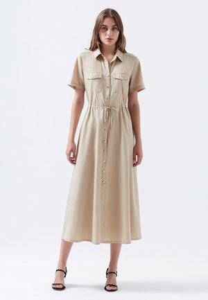 Shirt dress - irish cream