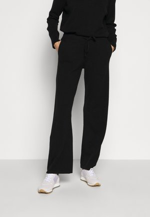 ESSENTIALS WIDE LEG PANT - Broek - black