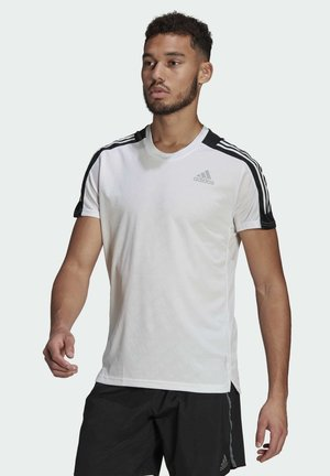 OWN THE RUN 3-STRIPES RUNNING T-SHIRT - Print T-shirt - white