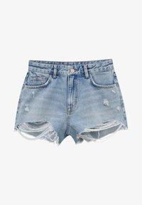 PULL&BEAR - Szorty jeansowe - light blue - 4