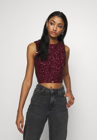 Lace & Beads - PICASSO - Top - burgundy - 0