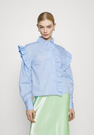 DINAH FRILL BLOUSE - Button-down blouse - blue bell