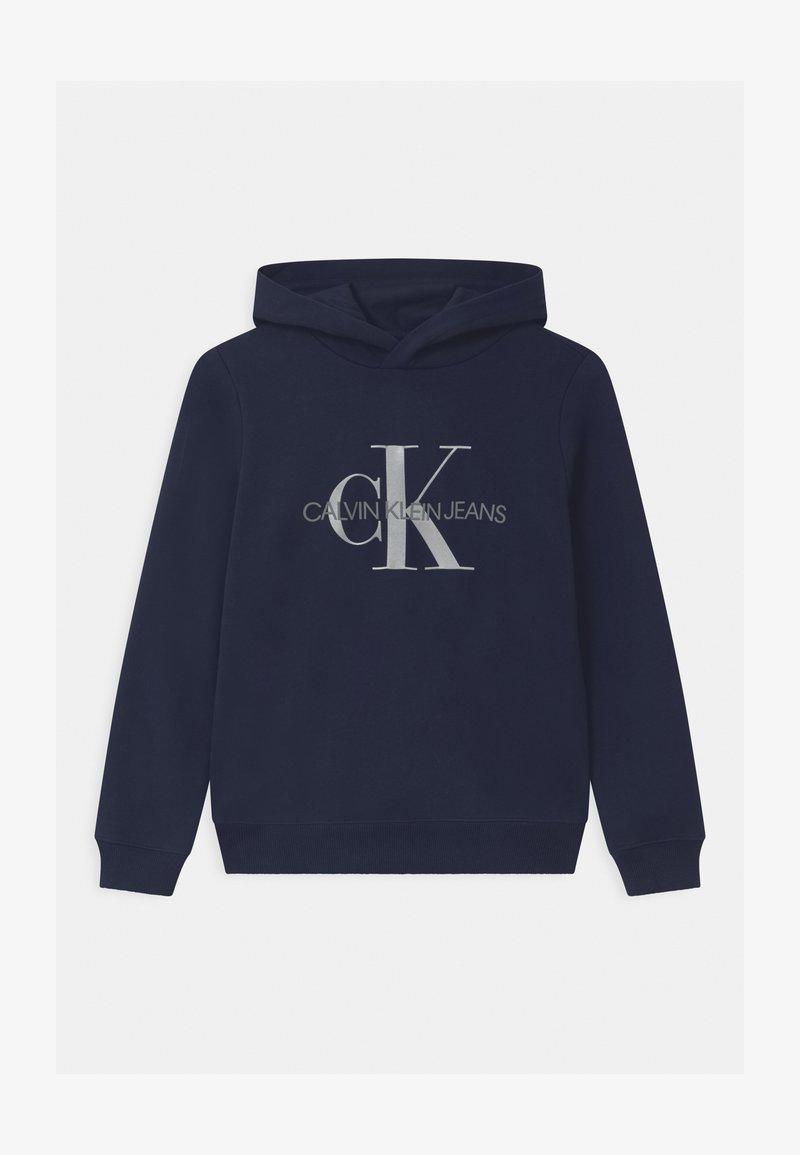 Calvin Klein Jeans - MONOGRAM HOODIE UNISEX - Hoodie - blue